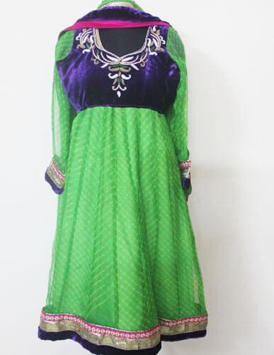 Green Anarkali Designer Suit 2