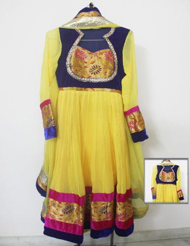 Yellow-Designer-anarkali-suit